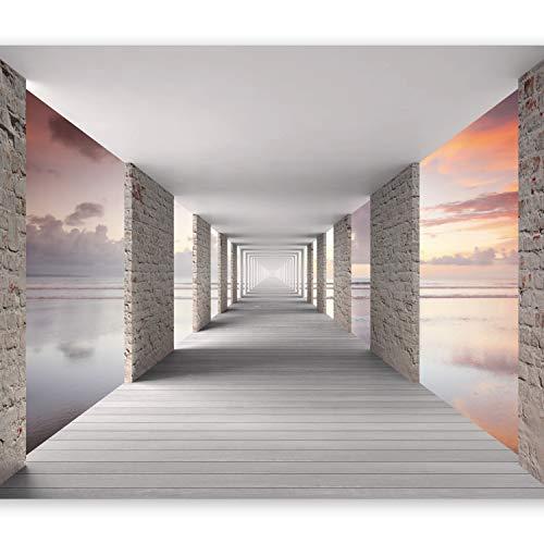 murando Papier peint intissé 250x175 cm Décoration Murale XXL Poster Tableaux Muraux Tapisserie Photo Trompe l'oeil Ciel Tunnel Perspective c-C-0005-a-d
