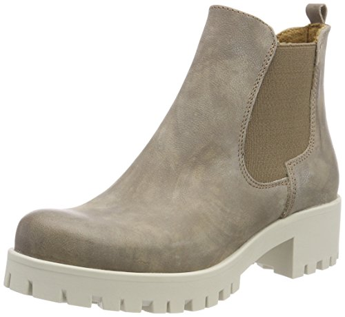 Tamaris Damen 25435 Chelsea Boots, Beige (Taupe 341), 38 EU (Ankle Co-leder Boot)