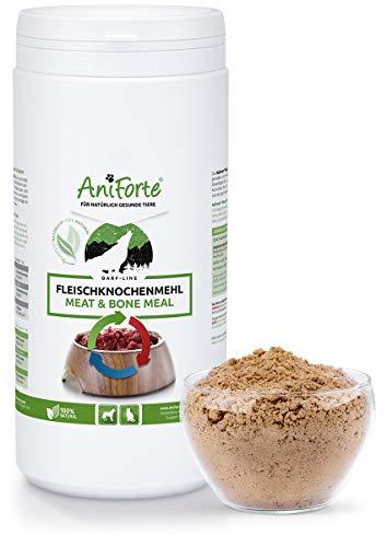 AniForte Fleischknochenmehl 1 kg für Hunde und Katzen, Natürliche Deckung des Kalzium und Phosphorbedarfs beim Barfen, Barf Ergänzung, Absolut Natürlich - Natürliche Kalzium