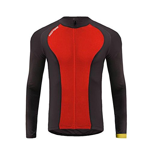 Uglyfrog #27 Neue Männer Radfahren Langarm Radfahren Jersey eine Menge Farben Antislip Ärmel Cuff Road Bike MTB Top Riding Shirt (Bull Riding-shirt)