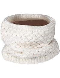 Nuofengkudu Adulte Enfants Mode Infinity Echarpe Foulards Laine À Tricoter  Molleton Chaud intérieur Peluche Hiver Accessoires 83af8b26ab6