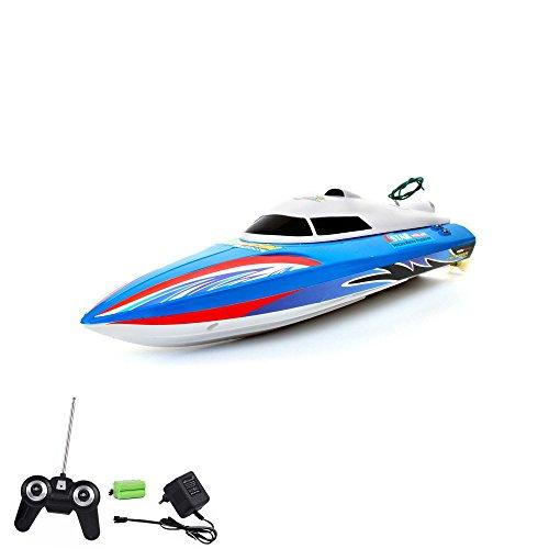 RC ferngesteuertes Speedboot mit wiederaufladbarem Akku, Racingboot, Schiff, Boot, Komplett-Set inkl. Fernsteerung, Akku und Ladegerät