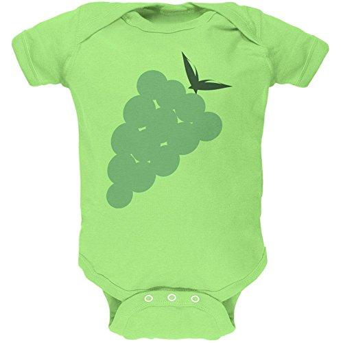 Old Glory Halloween Kostüm grüne Traube-Weiches Baby EIN Stück Schlüssel Kalk 3 Monat
