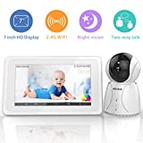 "BIGASUOVideo Baby Monitor with Camera Wireless Digital 720P 5"" HD LCD Screen"