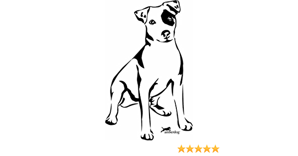 Amberdog Autoaufkleber Jack Russel Art Nr At0107 Auto Aufkleber Mit Hund Wohnmobil Wohnwagen Küche Haushalt