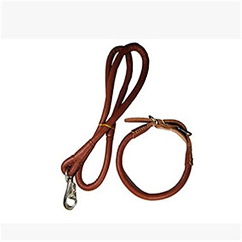 OOFWY Dog Pet Leash Collar grande et moyenne - Sized Rope Dog Traction , red brown