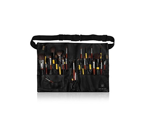 Make-up Artist Brush Belt (SHANY Cosmetics Professional Vinyl Makeup Apron with Makeup Artist Brush Belt, Light Weight, 8 Ounce by SHANY)