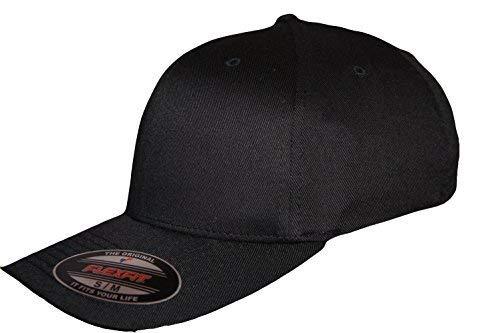 Yupoong - Casquette Style Base Ball /Hip Hop Urbain - Noir, L-XL 58-60CM