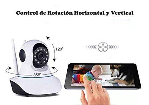 Galleria fotografica HD 960P (1280x 960P) IP WiFi telecamera di sorveglianza per la casa, negozio e Barer, e Baby Control. MTKD Fotocamera di Sicurezza con visione notturna e microfono altoparlanti incorportado, Pan/Till Orizzontale 355 ° verticale 120 °.