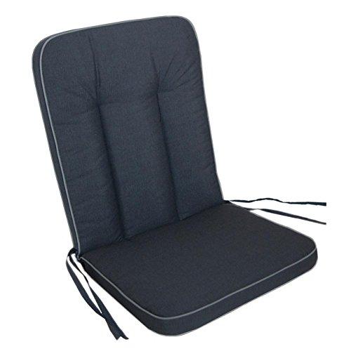 Polsterauflage MBM Romeo / Rosanna Gartenstuhl von OUTLIV. Niederlehnerauflage Sitz- Rückenkissen anthrazit Sitzauflage Gartensessel