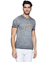 LP Jeans By Louis Philippe Men's Solid Slim Fit T-Shirt - B078HTB9WD