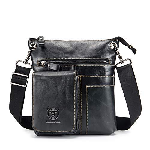 LNNL Handtasche Aus Leder Für Männer Für Wanderwandern Messenger Tasche Multifunktionstasche Aus Leder -