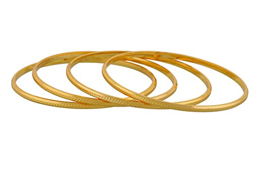 Mothers Day Gifts-Gold plated Plain bangles for women JB406MOT