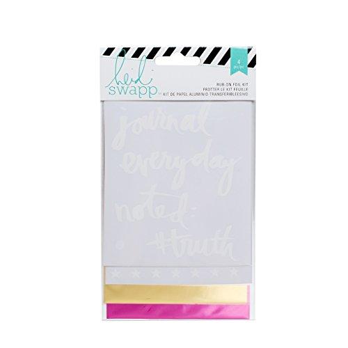 Rub-art-kit (American Crafts Heidi Swapp 10268595Schablone zum Mixed Media rub-on Folie kit-everyday)