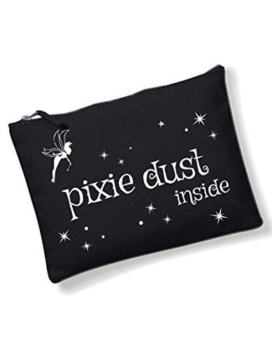 oolem Spruch Pixie Dust / Kulturbeutel mit verschiedene Sprüche auswählbar von 3Elfen / Schwarz / Tasche / Handtasche / Waschtasche / Schminktasche (Mädchen Klamotten Shoppen)