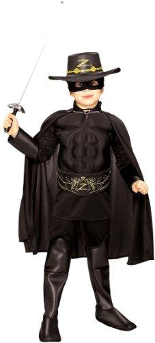 Kinder Zorro Kostüm - muskulöses Zorro -Kostüm für Jungen - 5 bis 7 Jahre