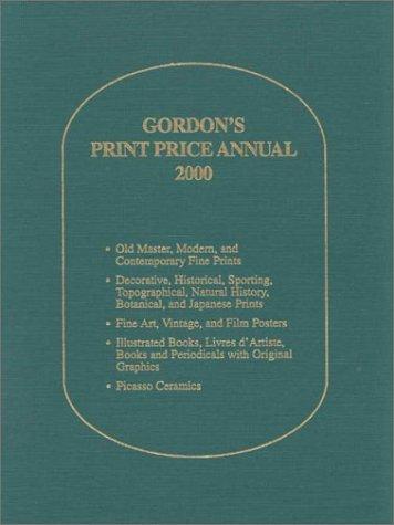Gordon's Print Price Annual 2000 (Gordon's Print Price Annual, 2000 ed)