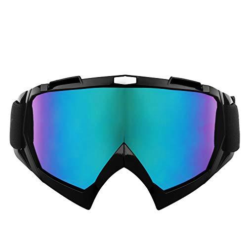 Sportschutzausrüstung Motorradbrillen Motocross Reitbrillen Snowboard Skibrillen Anti-UV-Winddicht Staubdicht Anti-Fog mit verstellbarem, rutschfestem Gurt für Erwachsene Off-Road-Dirt Bike Winterspor