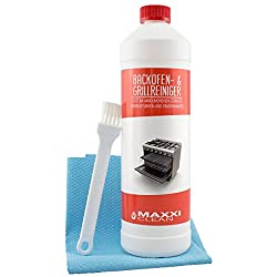 Maxxi Clean Backofenreiniger 1000 ml Gel Paste inkl. Backofen- und Grillreiniger Pinsel + Bonus Maxxi Clean agPLUS Fleece