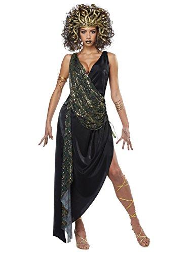 (California Costumes Damen Kostüm Sedusa mit Schlangenkopfstück)