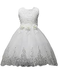 Rawdah Vestito frozen bambina e ragazze Abito Principessa Vestito da  Cerimonia per la damigella Floreale Abiti 687dc07e597