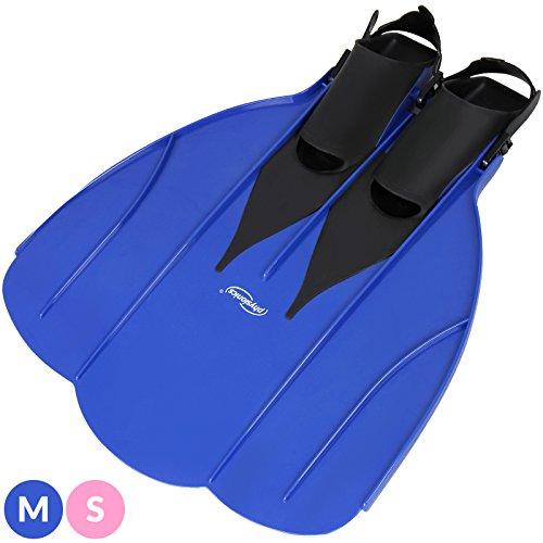 Physionics Monoflosse in zwei Größen - S (für Schuhgrößen ab 28-33) und M (für Schuhgrößen ab 35-41) (Blau, M (ab 35-41))