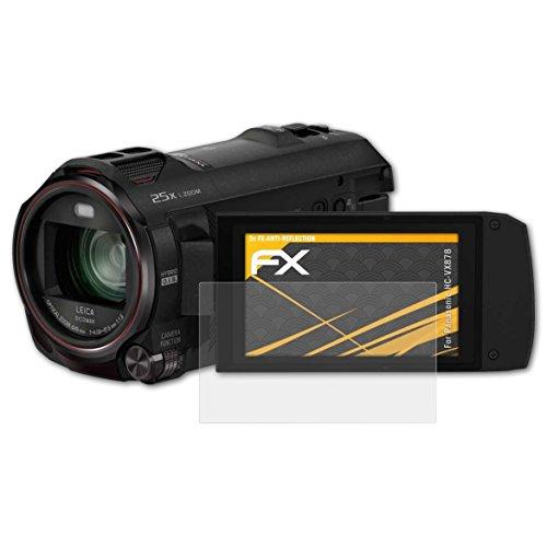 atFoliX Panzerfolie kompatibel mit Panasonic HC-VX878 Schutzfolie, entspiegelnde und stoßdämpfende FX Folie (3X)