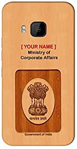 "your Government ID in curious Way with "" Your Name "" Printed on your HTC-816-G-plus Mobile back cover with your Dept: Ministry of Corporate Affairs"