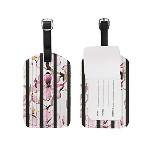 Etiquetas de Equipaje de Flores Rosadas Juego de 2 Piezas Etiqueta de...