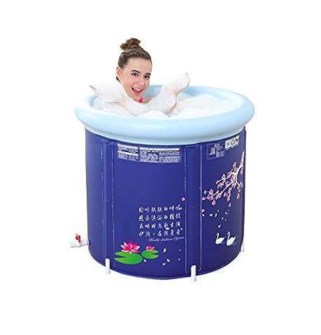 Cuisinière ronde pliante baignoire gonflable pliante Salle de bain gonflable pour enfants portable SPA ( taille : M )