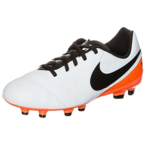 Nike Junior Tiempo Legend Vi Fg, Chaussures de Football Amricain Mixte Enfant Blanc