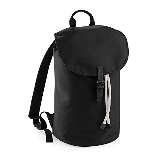 BagBase Classic Drawcord Duffle Light Grey/ Black