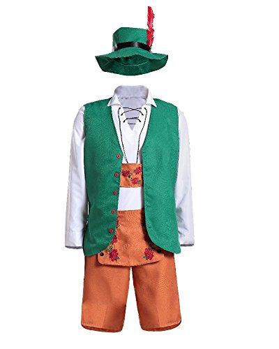 Simmia Halloween Kostüm,Klassische Halloween Kostüme Deutsch Oktoberfest Workwear Bier Verschleiß Bars Männer und Frauen Kellner, Männer, ()