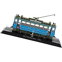 B Baosity Escala 1: 87 Retro Tram Modelo Atlas Tranvía Bus Vehículo Coche Decoración Juguete