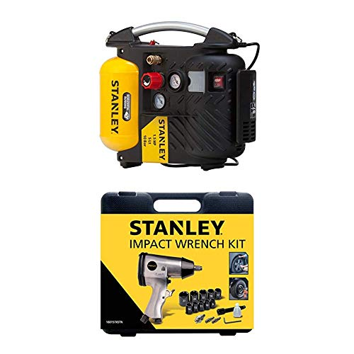 STANLEY Compressor DN200/10/5 + Impact Wrench Kit