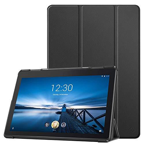 Fintie Hülle Kompatibel für Lenovo Tab E10 - Ultradünne Superleicht Schutzhülle mit Standfunktion für Lenovo Tab E10 10,1 Zoll Tablet 2019, Schwarz