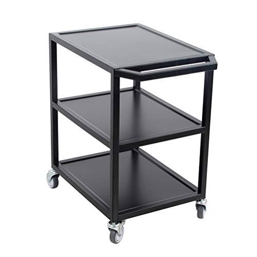 Kitchen furniture - Chariot de rangement en métal à 3 niveaux avec roues, tablette de poste de travail au sol multifonction WXP