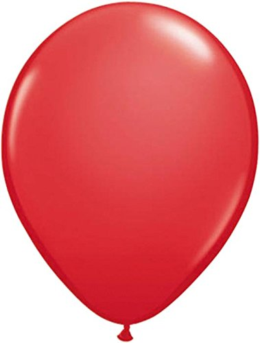 Folat Einfarbige metallic Luftballons rot 50er Pack