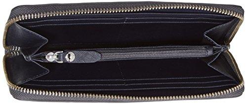 Ecco Iola Large Zip, Portefeuille Femme, 19.5x10x2.5 cm Bleu (Blau (90579)