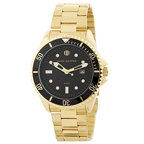 Dane Dapper Herrenuhr - Goldfarbene Mariner Armbanduhr