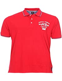 Polos à manches longues Kitaro rouges Sportifs homme