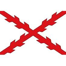 Gran Bandera de Cruz de Borgoña 150 x 90 cm Satén Durabol