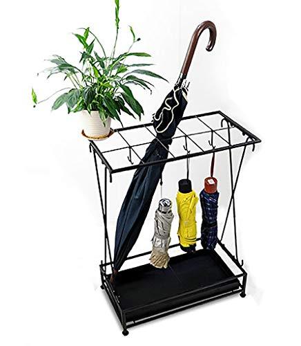 Portaombrelli in metallo portaoggetti freestanding ombrello (colore : nero)