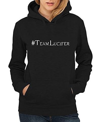-- Hashtag Lucifer -- Girls Kapuzenpullover Schwarz, Größe L