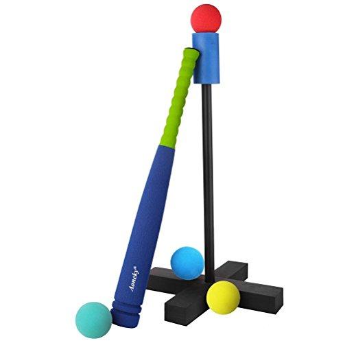aoneky Super Safe Schaumstoff T Set–Inklusive Tragetasche–Beste Baseball tBall für Kinder und Erwachsene Anfänger (Kids T-ball)