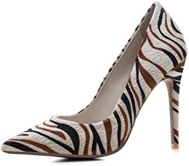 Zapatos de Mujer de Cuero New Spring Fall Comfort Tacones Acentuados Tacón de Aguja Sexy para Fiesta Diaria -