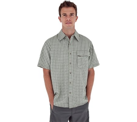 Royal Robbins Herren Echo Canyon Plaid Short Sleeve Shirt, Herren, Dark Aloe (Canyon Shirt Plaid)