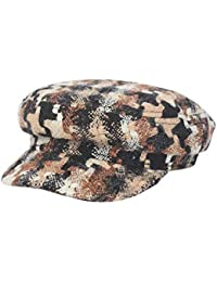 Suvimuga Gorros De Newsboy Tweed Colorido Plaid Visera Sombrero Marinero Gorra