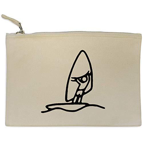 Azeeda 'Planche à Voile' Pochette en Toile / étui à Accessoires (CL00013434)