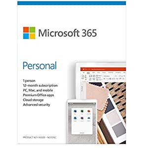 Microsoft 365 Personal | 12-Month Subscription, for 1 Person (Activation Key Card)